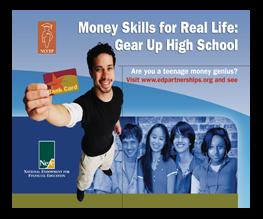 graphic design Money Skills brochure