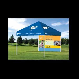 graphic design Tent display