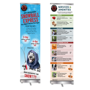 graphic design banner stands