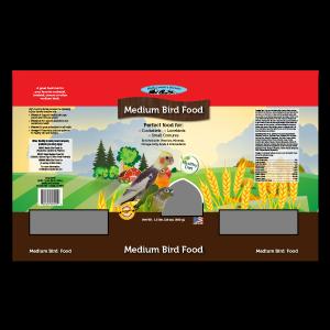 graphic design Bird Food packaging