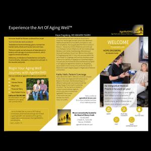 graphic design AgeWellMD brochure