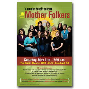 graphic design Mother Folkers poster