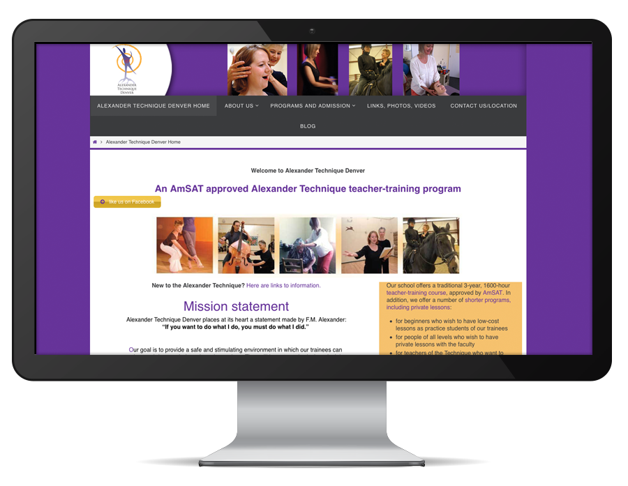 graphic design Alexander Technique Denver website
