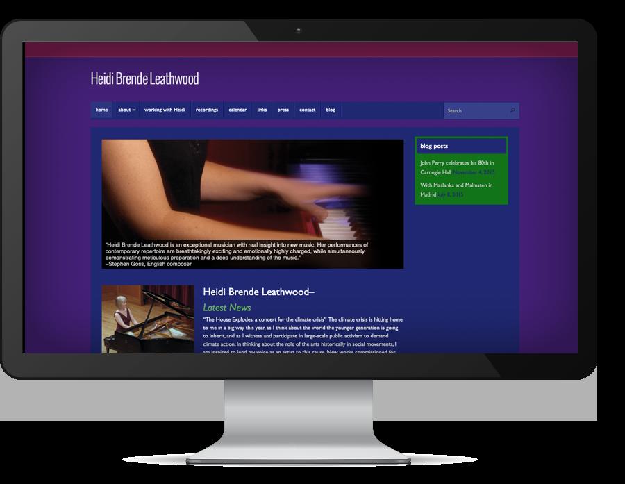 graphic design Heidi Brende Leathwood website