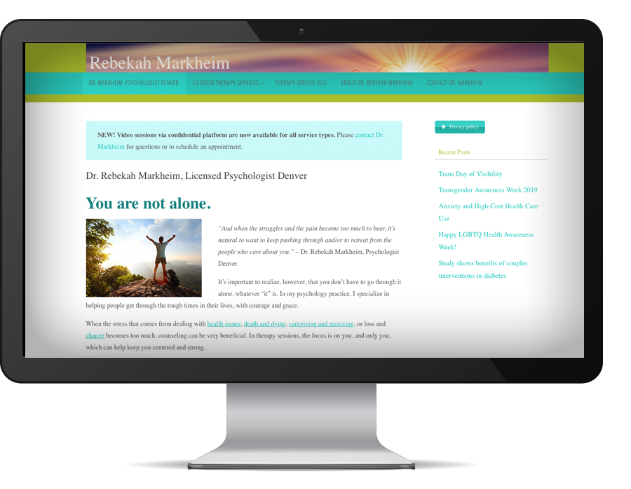 graphic design Dr. Rebekah Markheim website