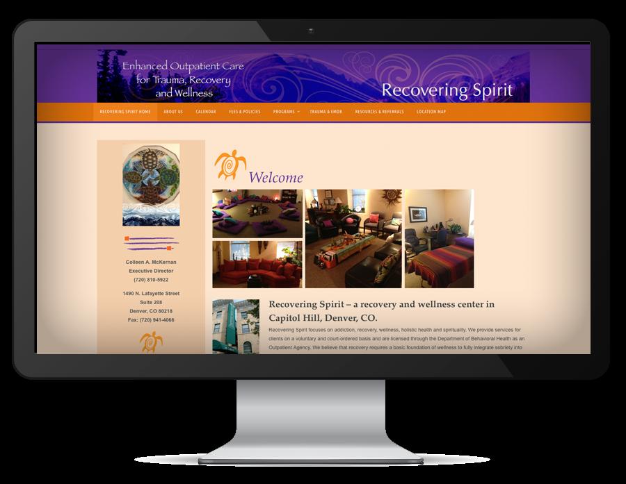 graphic design Recovering Spirit website